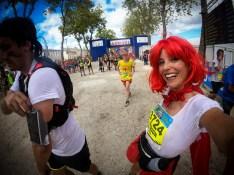 Marion Barral à l'arrivée du marathon du Médoc