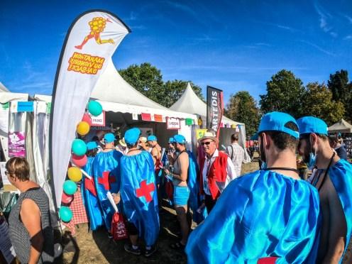 Village des sportifs au marathon du médoc