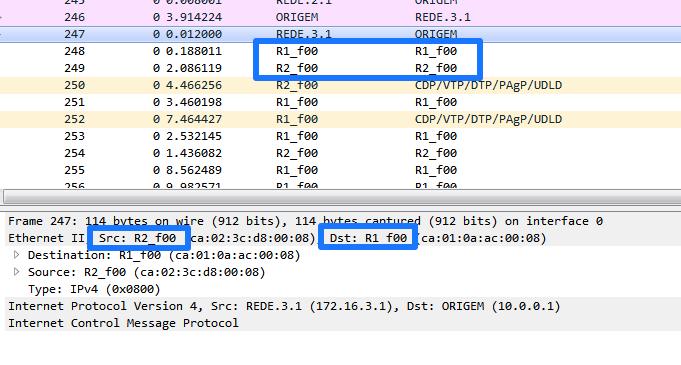 Resolução de MAC ficheiro ethers