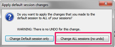 Change Default Session