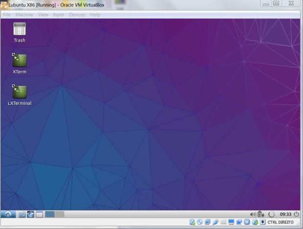 Lubuntu running