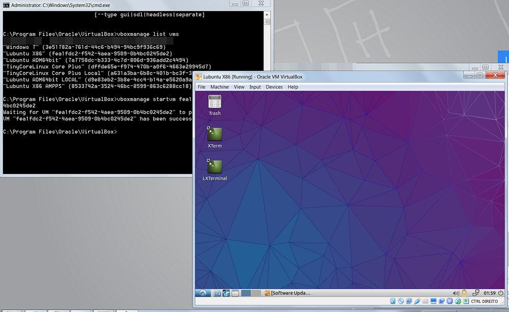 Como iniciar uma VM Virtualbox a partir de um atalho