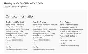 Whois: cneangola.com