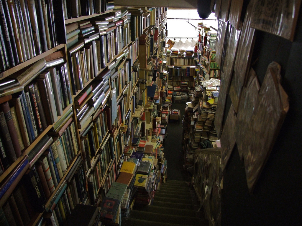 A real bookshop by Elsie esq via Flickr