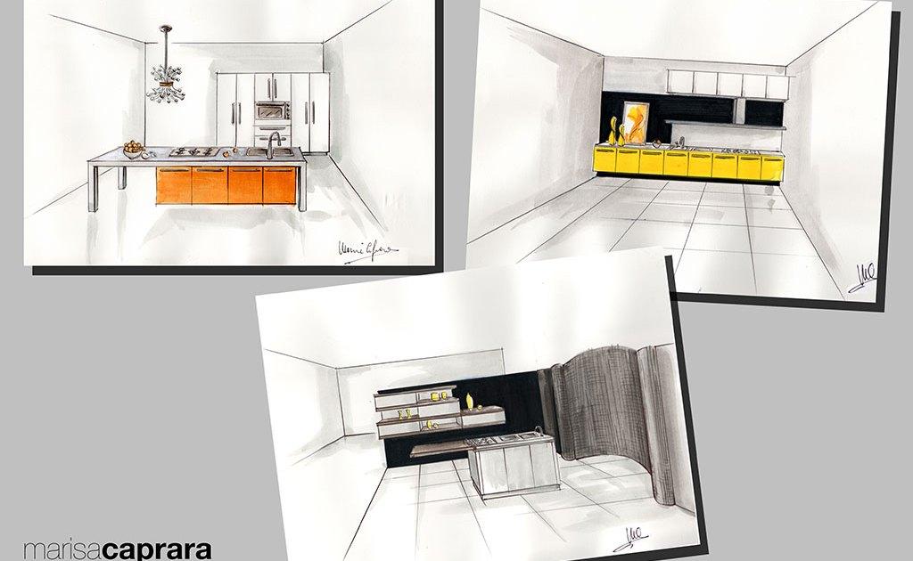 Progetti manuali ed in 3d di cucine marisa caprara designer for Progetti in 3d
