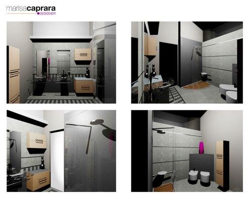 Progetti d 39 arredo bagno in 3d marisa caprara designer for Arredo bagno 3d