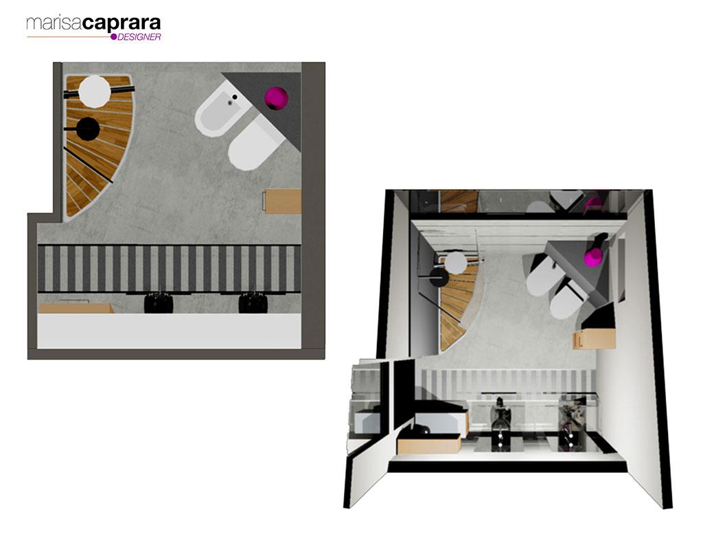 D Line Accessori Bagno.Progetti D Arredo Bagno In 3d Marisa Caprara Designer