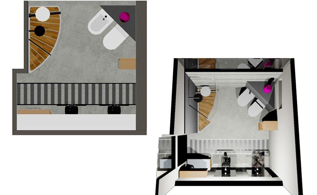 Progetti d\'arredo bagno in 3D – Marisa Caprara Designer
