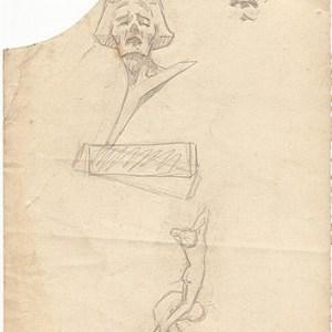 A-014 – 1926 Pijn Die Gekantnis ontwerp potlood  283×166 sd