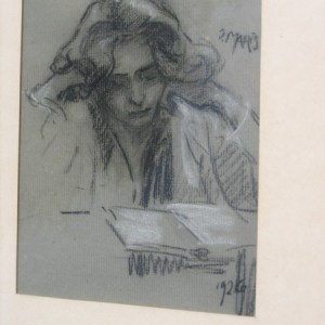 A-018 – 1926 Willy Maris tekening 20×16 coll Derks Heumen