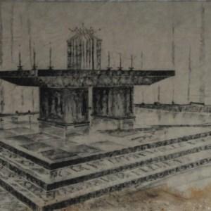 D-053 – 1957 Maria Visitatie kerk Aalst altaar (2)