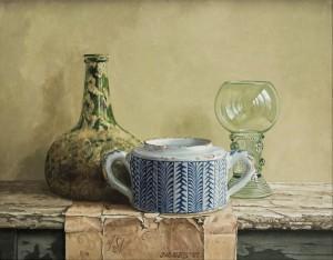 Jacques W. MarisStilleven met Delftsblauw suikerpotje