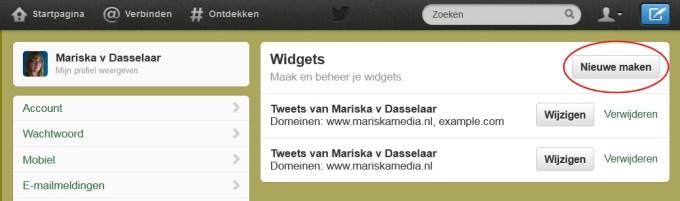 twitter widget website
