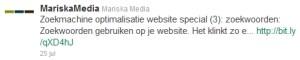 Mariska Media tweet