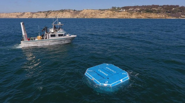 trial of submerged wave energy technology off California