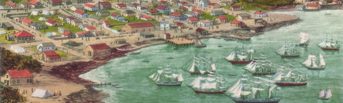 Ships in San Francisco Bay 1850.
