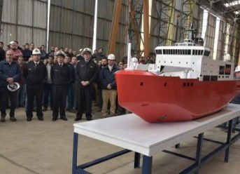 The construction of the Chilean Navy's new polar ship has started officially at the ASMAR Talcahuano Shipyard.