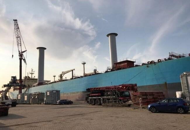 Testing Begins On First Product Tanker Vessel Utilising Wind Propulsion Technology 1
