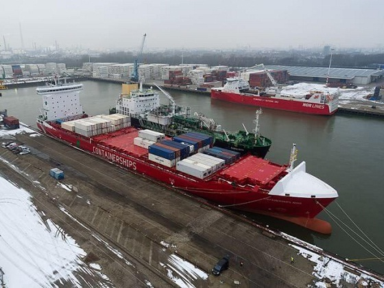M/S Containerships Nord Undergoes First LNG-Bunkering At Port Of Rotterdam 1