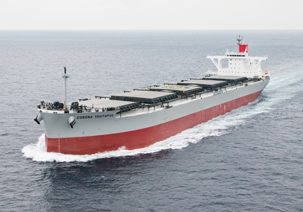 K Line Trials Binary Cycle Power Generation System on Newbuild Coal Carrier 1
