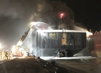 USCG: Bulker Catches Fire in the Port of Toledo 1