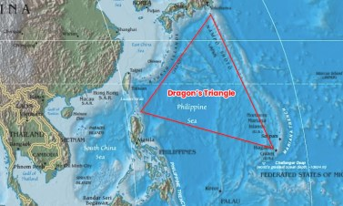 The Mystery Of Devil's Sea - Dragon's Triangle Map