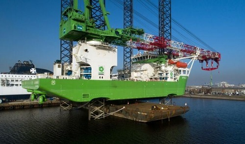 DEME Offshore's Heavy Lift Jack-Up 'Apollo' Completes Conservation Project At DSDu