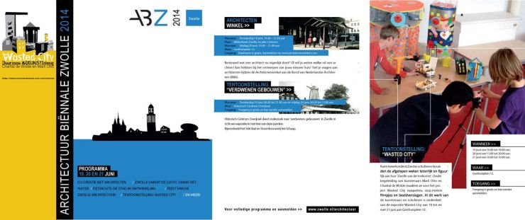 Wasted City Brochure Gemeente Zwolle/ uitgave 2016