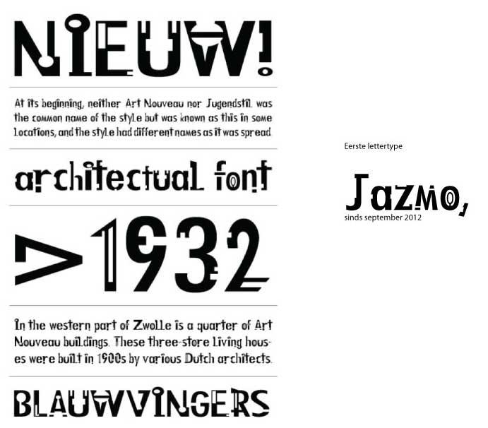 Mijn eerste lettertype gebaseerd op het huisnummer ontwerp wat ik voor DOAs heb ontworpen