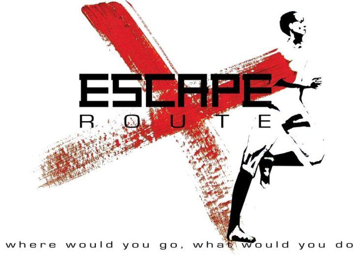 Escaperroute X logo ten behoeve van het spel Escape route X