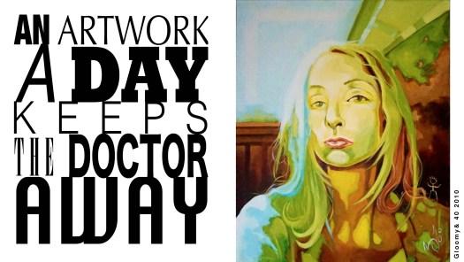 Gloomy & 40- acryl op canvas -eigen collectie