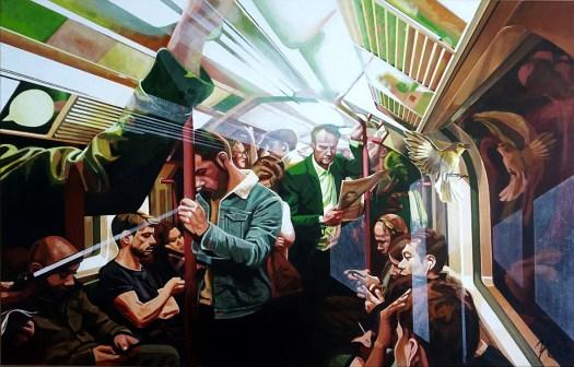Underground-Acryl op canvas 120/80 cm 2021