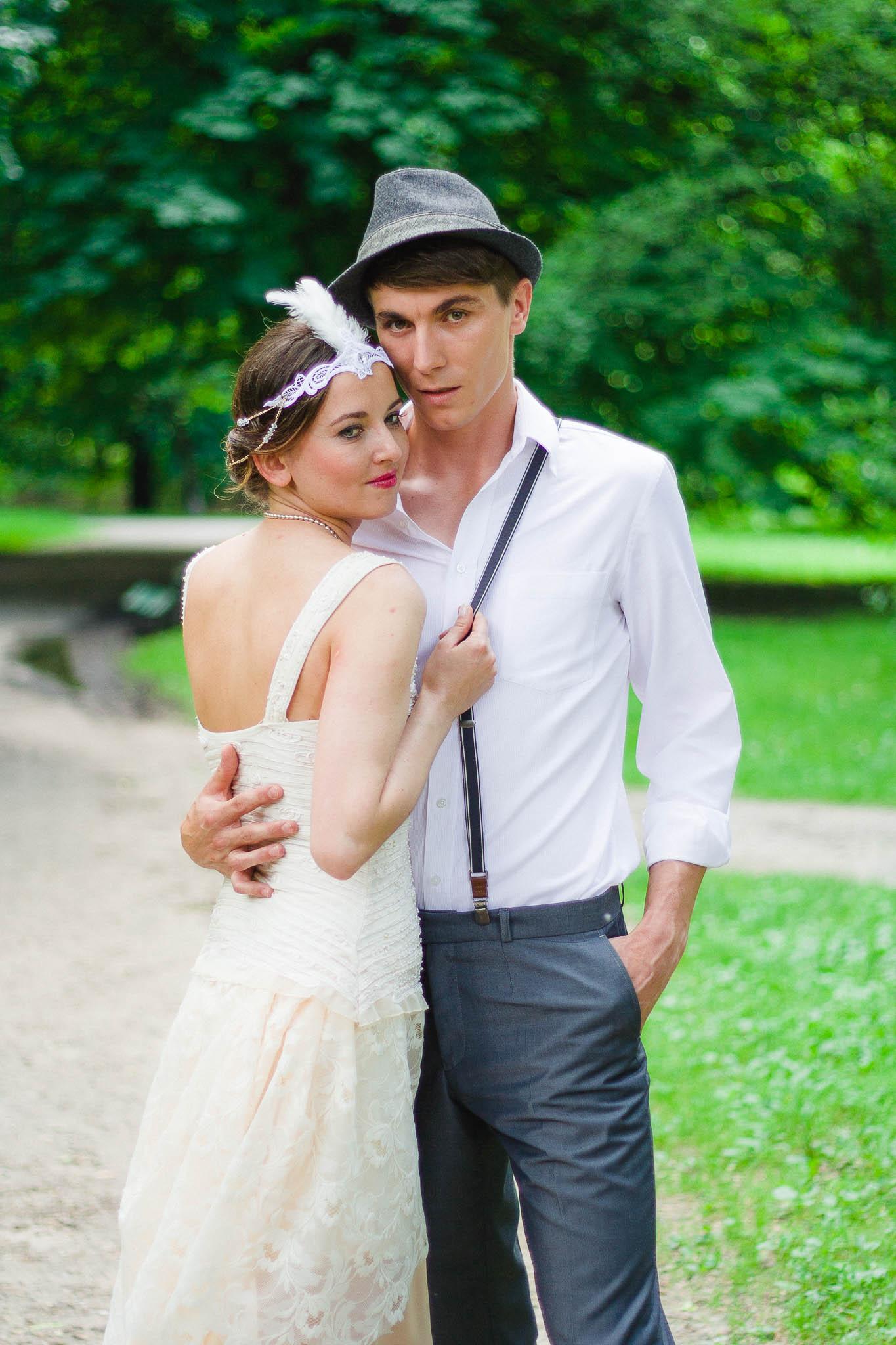 Sesja ślubna stylizowana na lata 20