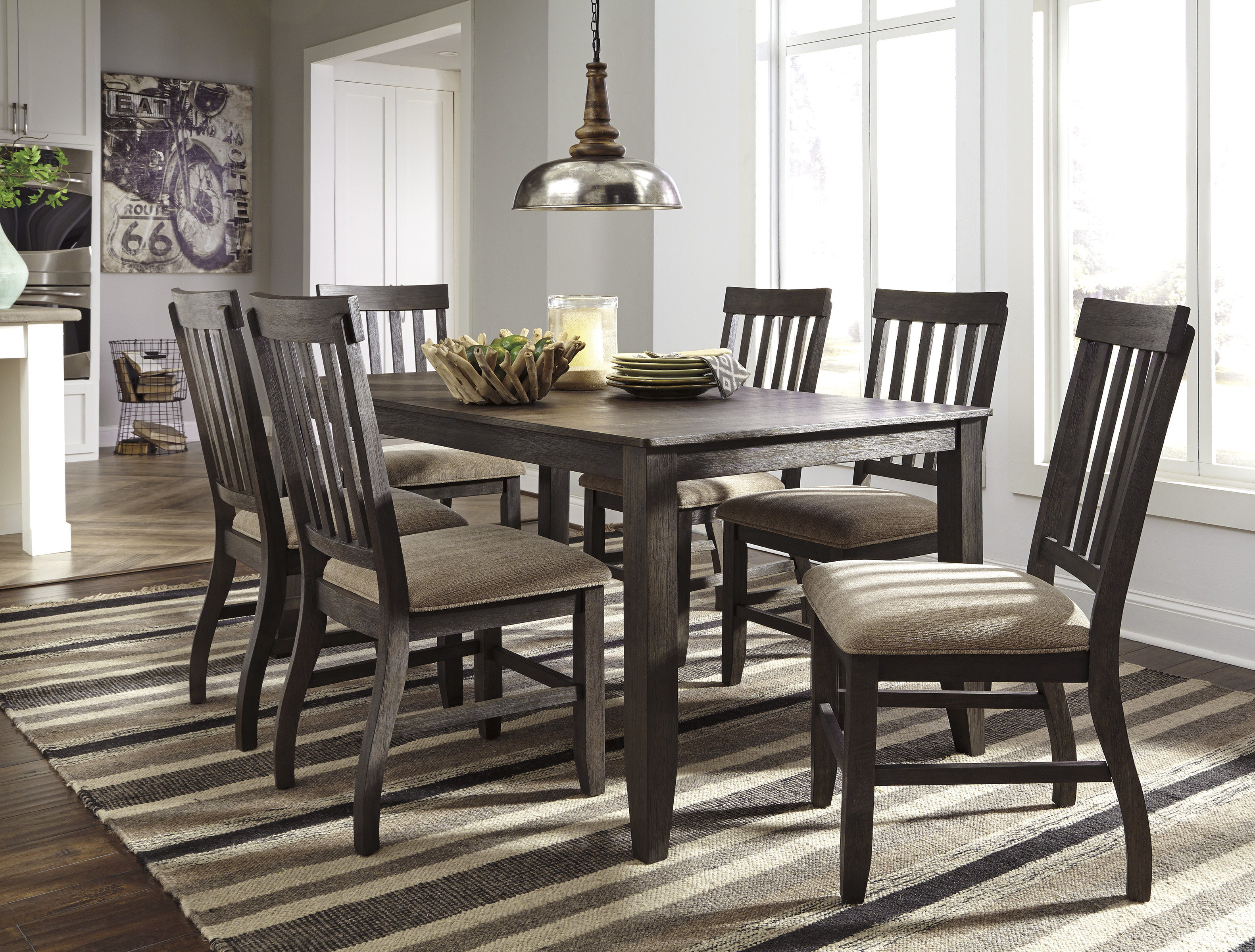 dresbar urbanology grayish brown 7pc rectangle dining room on dining room sets on clearance id=67526
