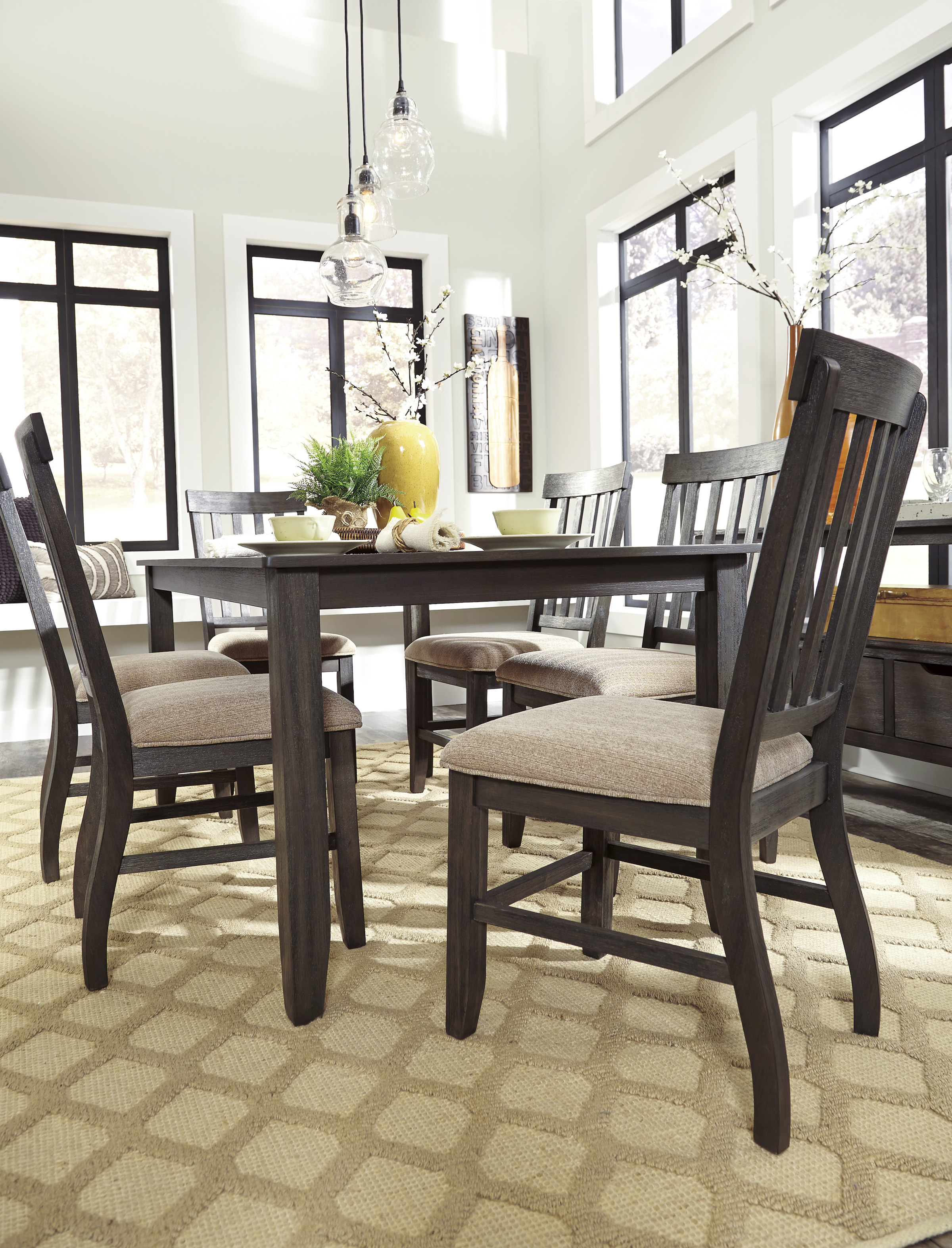 dresbar urbanology grayish brown 7pc rectangle dining room on dining room sets on clearance id=85902