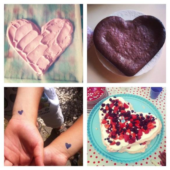 gâteaux coeurs