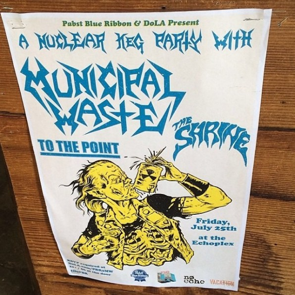 Municipal Waste To the Point The Shrine show