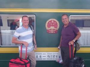 Boarding the Trans Siberian Railroad in Beijing