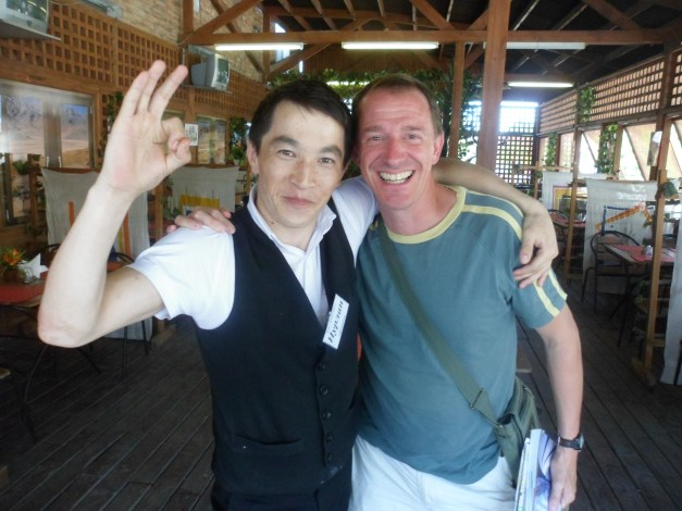 Our Uzbeki server (left)
