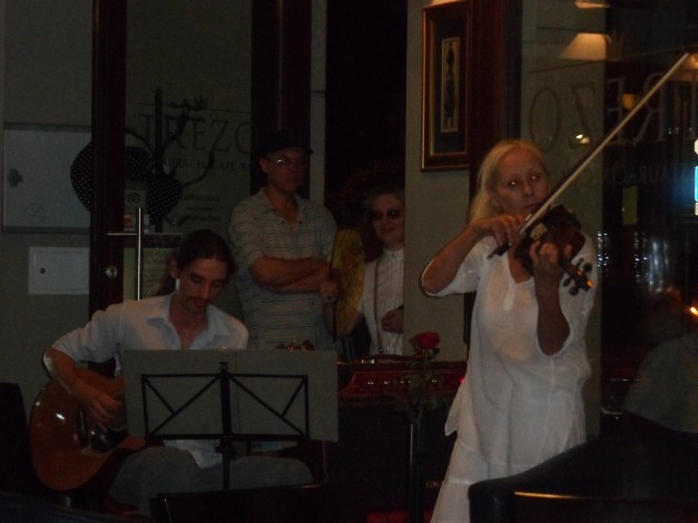 Musicians at dinner in Krakow