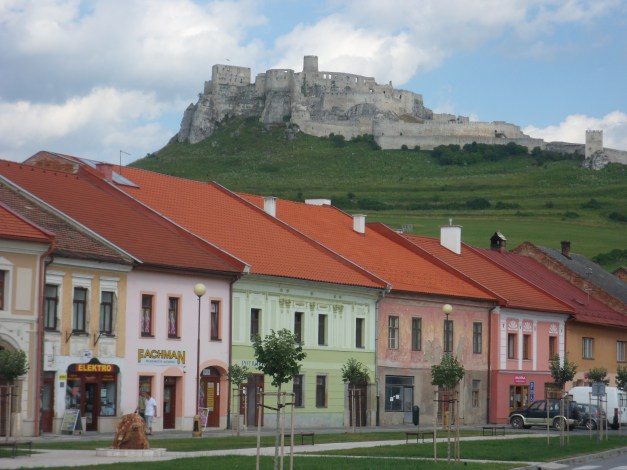 The town of Spišské Podhradie, dominated by the massive Spiš Castle