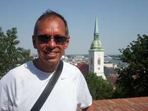 Overlooking the town and the Danube from Bratislava Castle