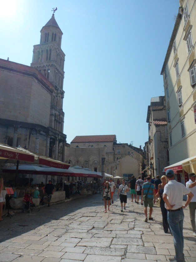 The center of Split is Diocletian's Palace - a 1,700-year-old building that is still being used for stores, restaurants, and homes