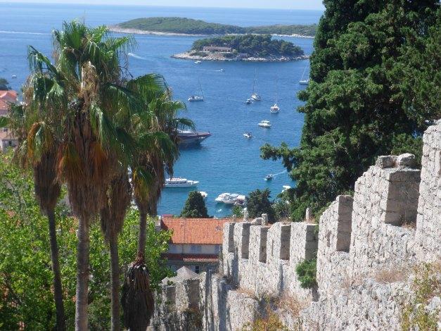 Hvar harbor from the castle