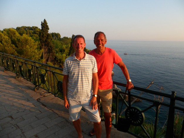 On our way into another wonderful evening in old Dubrovnik