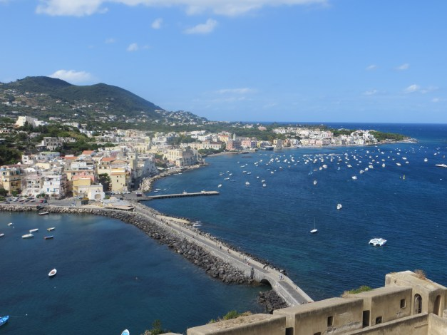 View of our little slice of heaven from Castello Aragonese d'Ischia