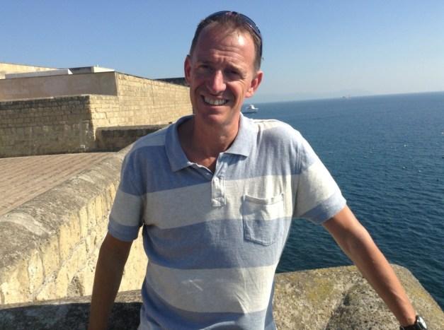 Mark atop Castel dell'Ovo
