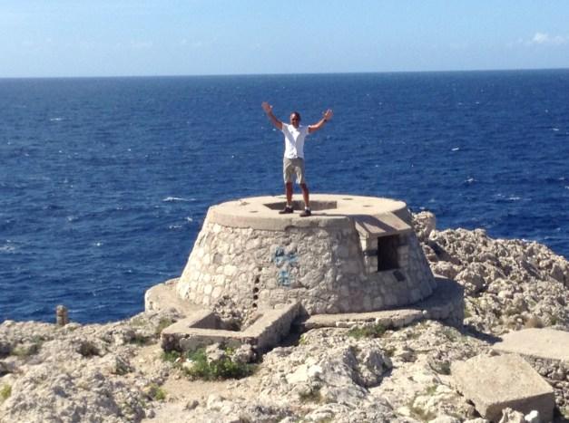 The very southwestern tip of Capri