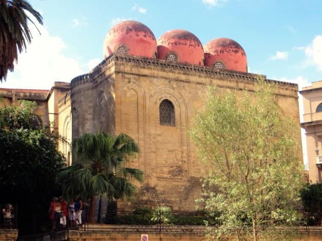 The Chiesa Capitolare di San Cataldo, built in 12th century Arab Norman style, Palermo