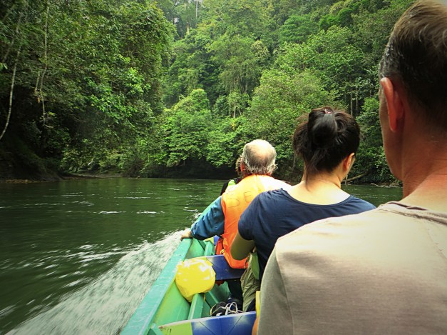 The final boat trip to Ulu Temburong National Park. In front of Mark is Ki, a Portland, OR, native teaching English in Korea. In front of her is a Frenchman for whom personal hygiene was distinctly not a priority. Yuck!